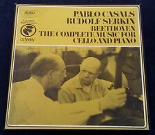 Casals , Serkin - Beethoven Cello Sonatas Odyssey ‎ 32 36 0016 3 LP Box
