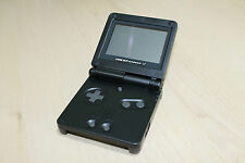 New Refurbished Game Boy Advance SP  Console  Black New Body & Screen ags 001