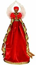 Serenity in Red African American Angel Christmas Tree Topper, United Treasures
