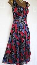 Monsoon Size 18 Silk Black Dress