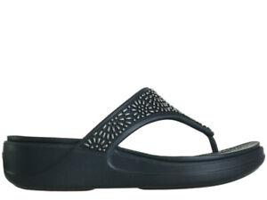 Damen Zehensandalen Flip-flop Crocs Monterey Diamante Black 206343-001