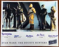 FIVE BOUNTY HUNTERS SIGNED AUTOGRAPHED 16x20 PHOTO STAR WARS BECKETT BAS LOA