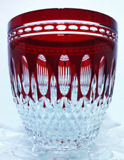 WATERFORD CLARENDON RUBY RED  Cut To Clear Crystal Ice Bucket MINT CONDITION!