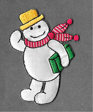 Snowman - Winter - Snow - Embroidered Iron On Applique Patch