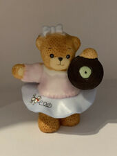 Enesco Lucy Rigg Lucy&Me Bears 1988 Teenage Bear Poodle Skirt Dancing Record Vgc