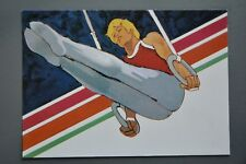 R&L Postcard: 1984 Los Angeles Olympics, Robert Peak, Men's Gymnastics