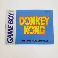 Donkey Kong (Nintendo Game Boy, 1994) Manual Only Excellent - fast ship