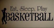 EAT SLEEP PLAY BASKETBALL Kids Sports Wall Sticker Lettering Words Vinyl Decal