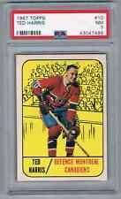 1967-68 TOPPS TED HARRIS PSA 7 MONTREAL CANADIENS #10
