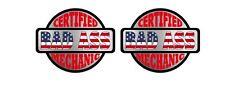 Certified Bad Ass U.S. USA Mechanic Sticker Decal Hard Hat Helmet Union Labour