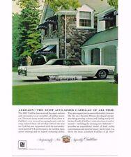 1967 Cadillac Coupe de Ville White automobile Car Vtg Print Ad