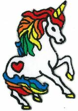 Rainbow Unicorn Girl iron on/sew on Embroidered Patch Applique DIY (US Seller)