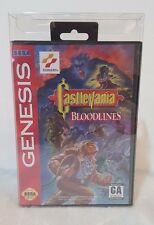 10 Sega Genesis & SMS w/ Hang tab Clear Plastic Box Protectors Complete Cases