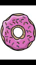 Doughnut/Donut Pink Sprinkle Cartoon IRON ON T-shirt Transfer Cute