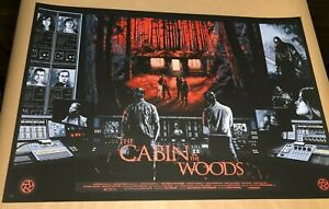 Nathan Chesshir THE CABIN IN THE WOODS movie print poster nt Mondo edition /45