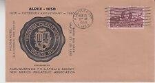 1950 ALBUQUERQUE NM ALPEX STAMP EXPO COVER W/ #993 RAILROAD CASEY JONES GEM!