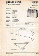 Manuel d'instructions service pour Philips L3 D12 T, Evette 312