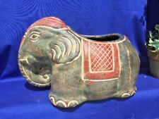 TANG SANCAI Pottery China Dynasty ELEPHANT Planter Vase Sculpture UNIQUE OOAK ❤️