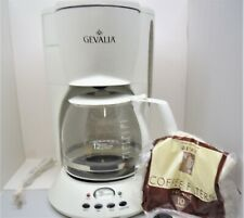 Gevalia White 12 Cup Programmable Coffee Maker Model C-60A New