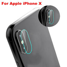 9H Premium Tempered Glass Back Camera Lens Film Protector Cover Set For iPhone X