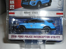 FORD INTERCEPTOR UTILITY 2016 POLICE MAINE HOT PURSUIT S27 GREENLIGHT 1/64