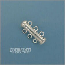 Sterling Silver Multi / 3 Strand Slide Tube Clasp Connector 20mm #33207