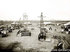 Ford Cars & Ford Tractors Exposition (1) - circa 1920- Historic Photo Print