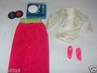 Vintage Barbie Doll Disc Date Outfit 1965 #1633 Complete Original Nice