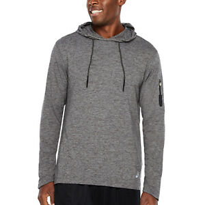 Asics Hoodie Mens Size S Performance Soft Sueded Jersey Lightweight Hooded Top