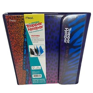 "Trapper Keeper Animal Print Binder Retro Style Portfolio Folder 12 3/16""X 111/4"""