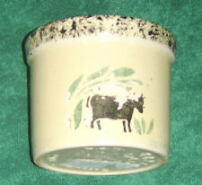 R R P Co. ROSEVILLE POTTERY Cow 1pt Low Jar RRP Crock USED pottery candles