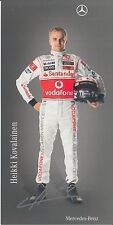 Heikki kovalainen firmato VODAFONE MCLAREN F1 PROMO CARD.