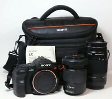 Sony DSLR Alpha A200 w/Original Carrying Case Charger 75-300mm & 18-70mm Lenses
