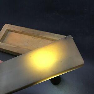 "Vintage Hard Arkansas Oil Stone Translucent Sharpening Stone 8x2x1"""