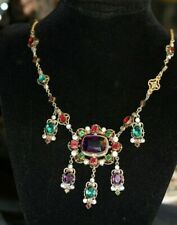 Austro Hungarian Style Multi Colored Paste Necklace