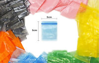 Small Resealable Plastic Polythene Grip Seal Bags - Clear Bags Zip Lock Baggy