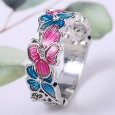 Jewelry White Sapphire Rings Size 10 Lotus 925 Silver Wedding Rings Women