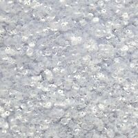 4mm Cup Sequins Loose Paillettes ~ Crystal Clear ~ Made in USA