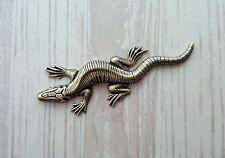 Xlarge Oxidized Brass Lizard (1) - Borat6339