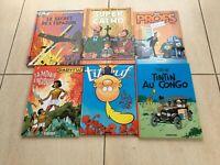 Lot de 6 Albums BD Divers en tout genres | Papyrus, Titeuf, Les Profs, Tintin...