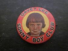 RARE 1930's Al Jolson Club Davey Lee As Sonny Boy Pinback Badge Emblem Phila USA