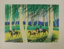 Lithografie - Amadeu Casals - Horses