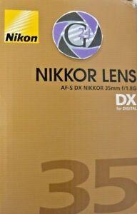Nikon AF-S DX Nikkor 35mm f/1.8G - NEU - VAT/MwSt. ausweisbar!