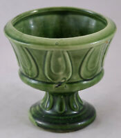 VINTAGE GREEN CERAMIC PLANTER/POT