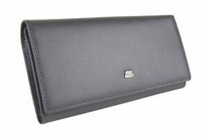 City Flyer RFID Genuine Leather Wallet Women Card Holder Purse  Long Clutch