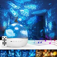 Cute Night Light for Kids,Star Projector with Bluetooth Music,Baby Girl Bunny