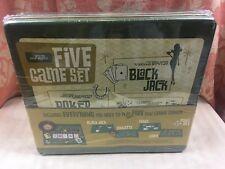 Casino & Lounge BLACK JACK CRAPS ROULETTE POKER WEMBLEY 5 Game Set NEW