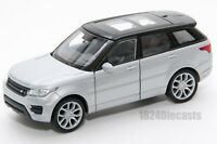 Range Rover Sport silver, Welly 43698F, scale 1:34-39, model toy car gift