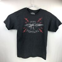 Six fifty One Mens 2008 Foo Fighters Charcoal Grey Graphic T  Shirt Size Medium