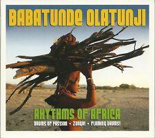 BABATUNDE OLATUNJI RHYTHMS OF AFRICA - 3 CD BOX SET - DRUMS OF PASSION & MORE